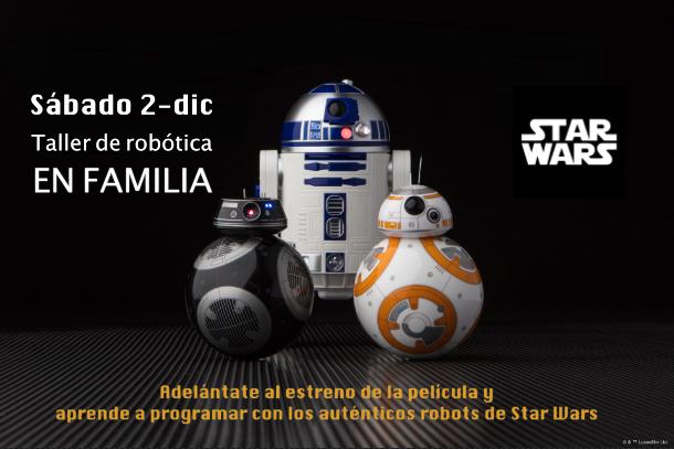 Taller de robótica en familia con los robots de Star Wars